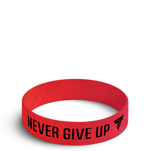 NEVER GIVE UP - WRISTBAND 002/RED