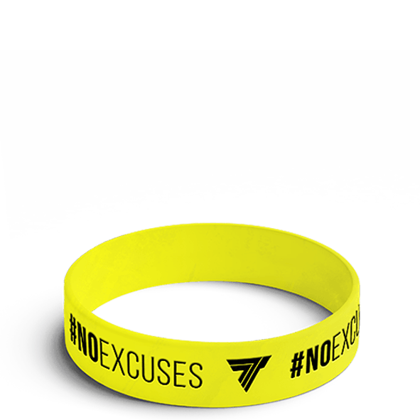 #NO EXCUSES - WRISTBAND 007/YELLOW