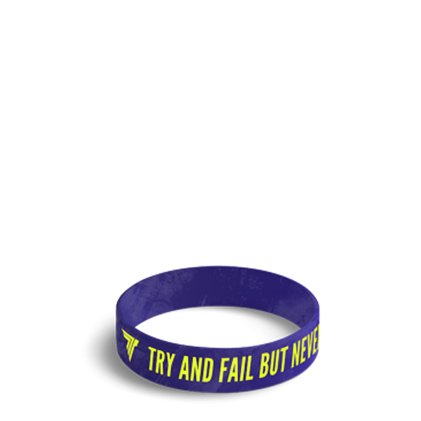 TRY & FAIL BUT NEVER - WRISTBAND 035/NAVY BLUE