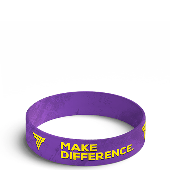 MAKE DIFFERENCE - WRISTBAND 018/PURPLE