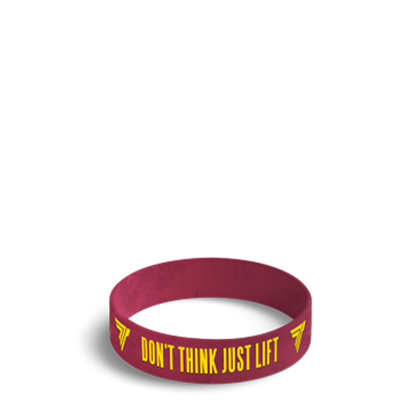 DON'T THINK JUST LIFT - WRISTBAND 029/RED