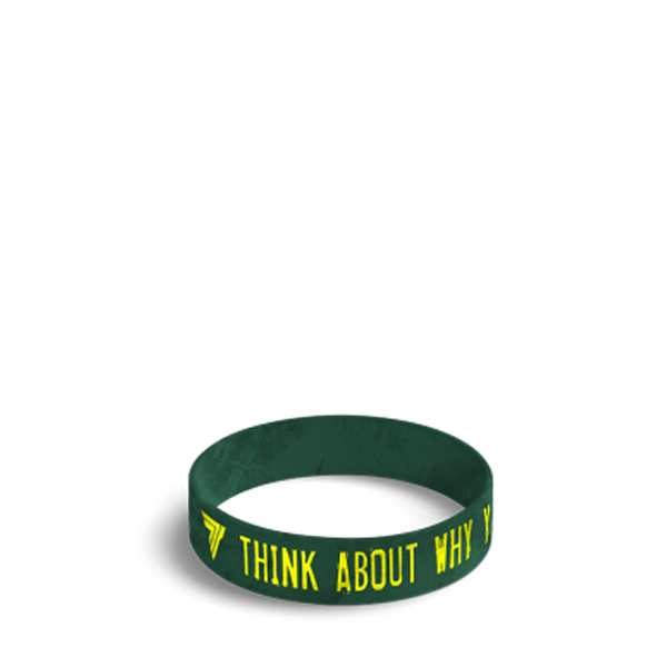 THINK ABOUT WHY YOU STARTED - WRISTBAND 040/GREEN