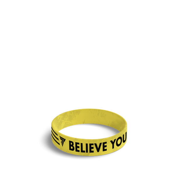 BELIEVE YOU CAN - WRISTBAND 044/YELLOW