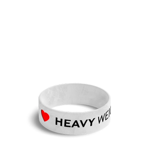 IL HEAVY WEIGHTS - WRISTBAND 028/WHITE