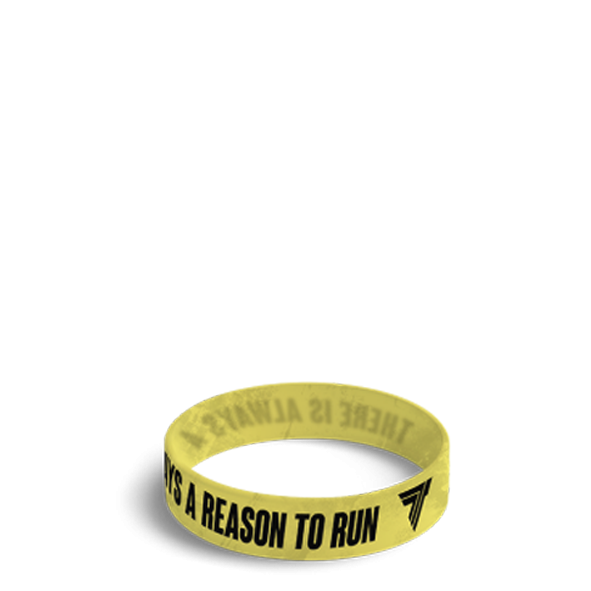 REASON TO RUN - WRISTBAND 037/YELLOW